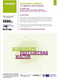 Das Bild zeigt die Einladung zum Workshop.
