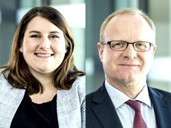 Das Bild zeigt von links Laura Kleine-Wilke und Christian Gnegel