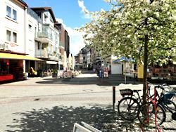 Das Bild zeigt die Fußgängerzone der Stadt Datteln.