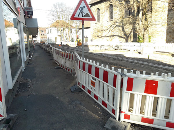 Umgestaltung der Fußgängerzone im Bereich Recklinghäuser Straße