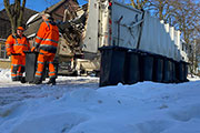 Müllabfuhr Schnee