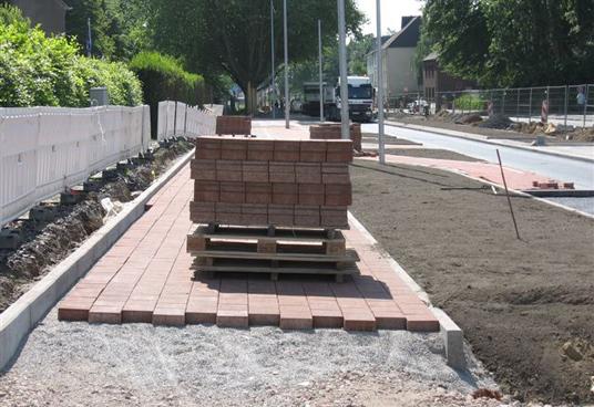 Das Bild zeigt die Baustelle auf der Horster Straße