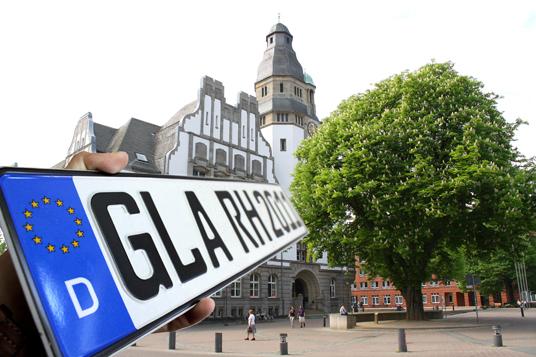 Das Bild zeigt das GLA-Kennzeichen