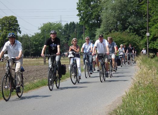 Das Bild zeigt die Tour de Gladbeck