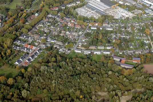 Das Bild zeigt den Stadtteil Ellinghorst