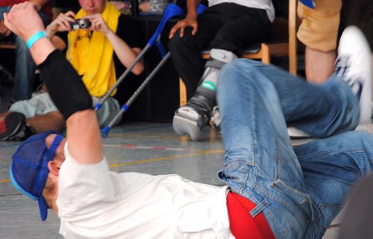 Das Bild zeigt einen Tänzer