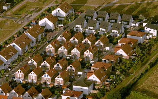 Das Bild zeigt ein Wohngebiet in Gladbeck