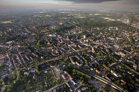 Das Bild zeigt eine Luftaufnahme von Gladbeck