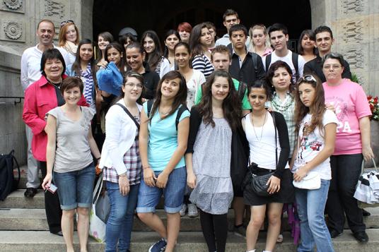 Das Bild zeigt den Schüleraustausch