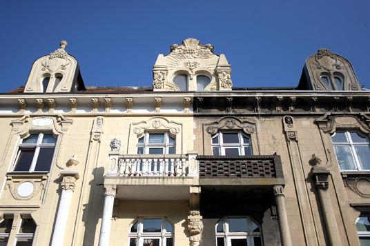 Das Bild zeigt eine Fassade in Gladbeck