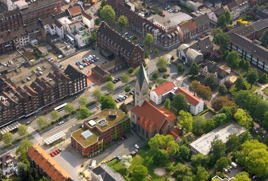 Das Bild zeigt die Humboldtstraße/Ecke Postallee