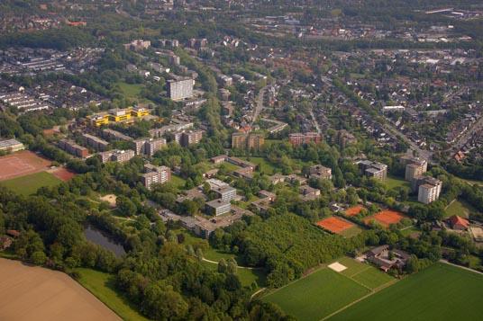 Das Luftbild zeigt Rentfort-Nord
