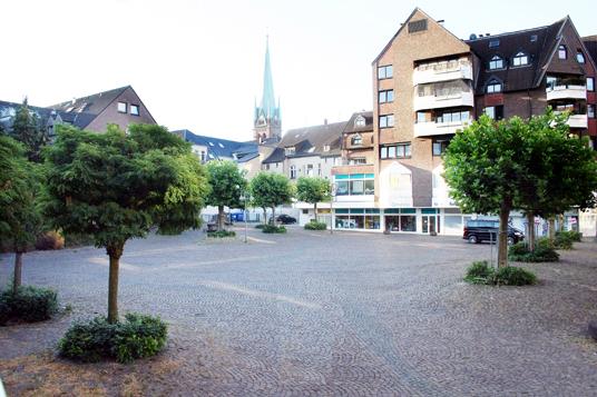 Das Bild zeigt den Goetheplatz
