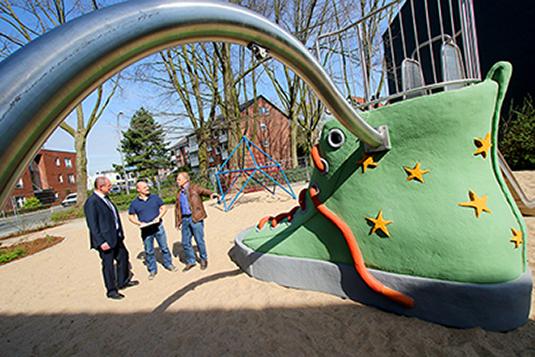 Das Bild zeigt den Spielplatz