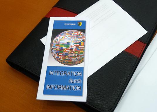Das Bild zeigt den Flyer des Integrationsrates