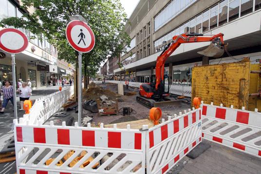 Das Bild zeigt den Umbau der Innenstadt