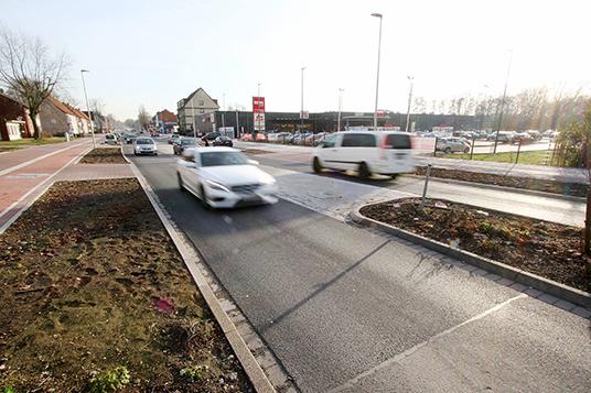Das Bild zeigt die Horster Straße