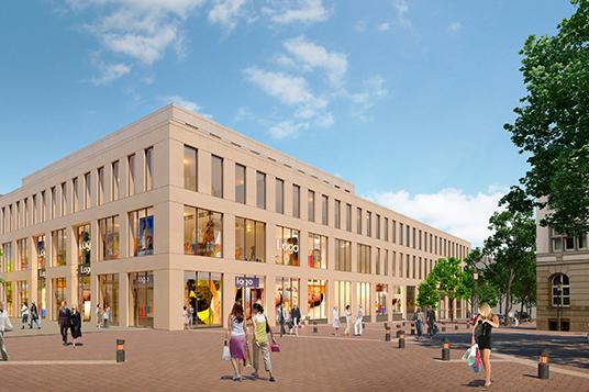 Das Bild zeigt das neue Geschäftsgebäude