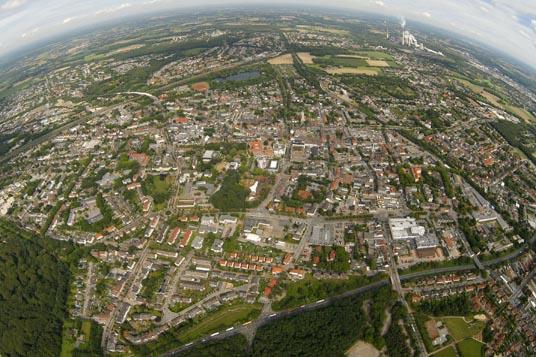 Das Bild zeigt Gladbeck aus der Luft