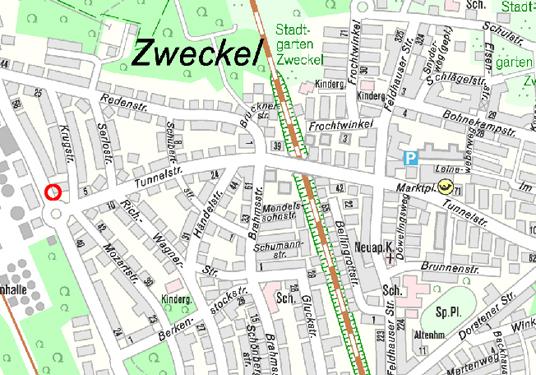 Das Bild zeigt die Tunnelstraße
