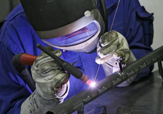 Das Bild zeigt einen Arbeiter in Gladbeck