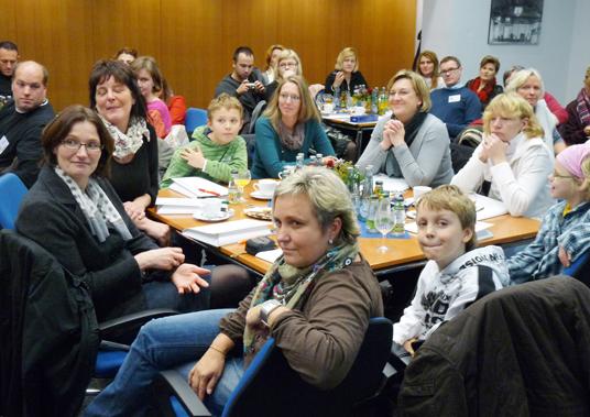 Das Bild zeigt die Besucher des Comenius-Projektes