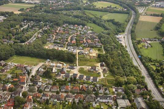 Das Bild zeigt das Baugebiet Bloomshof