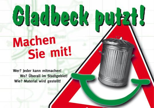 Das Bild zeigt die Aktion Gladbeck putzt