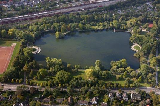 Das Bild zeigt den Nordpark