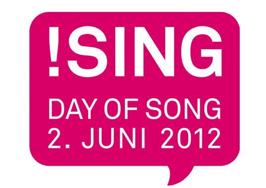 Das Bild zeigt das Logo Sing day of song