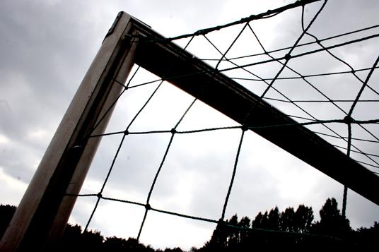 Das Bild zeigt ein Fußballtor