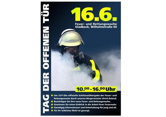Das Bild zeigt das Plakat der Feuerwehr