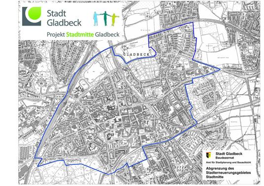 Das Bild zeigt die Gladbecker Innenstadt