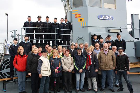Das Bild zeigt die Besuchergruppe