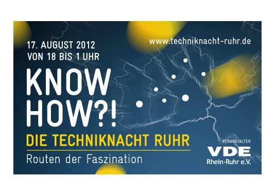 Das Bild zeigt die Techniknacht Ruhr