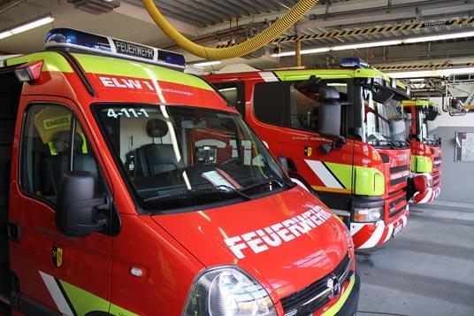 Das Bild zeigt die Feuerwehr