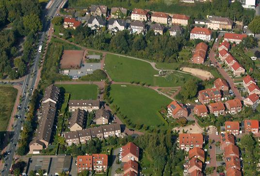 Das Bild zeigt den Stadtteilpark Butendorf