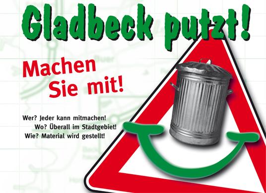 Das Bild zeigt das Logo zu Gladbeck putzt!