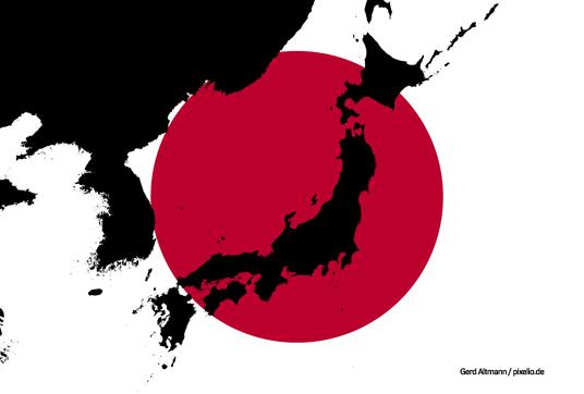 Das Bild zeigt eine Karte von Japan