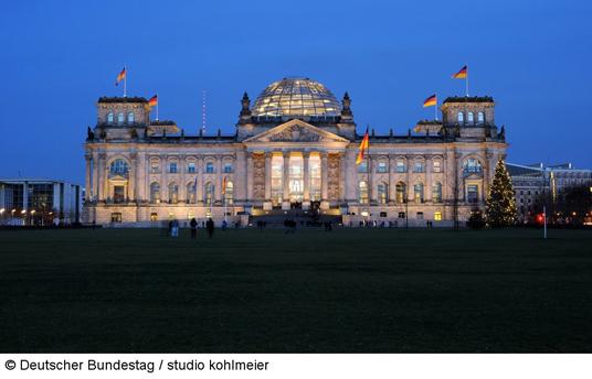 Das Bild zeigt den Bundestag