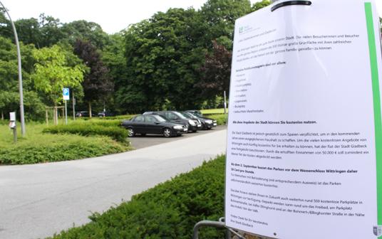 Das Bild zeigt das Parken in Wittringen