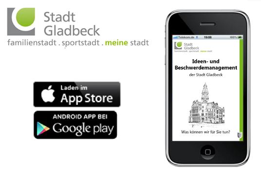 Das Bild zeigt die Mängel-App