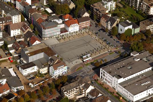 Das Bild zeigt den Gladbecker Marktplatz