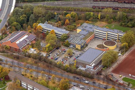 Das Bild zeigt das Heisenberg-Gymnasium