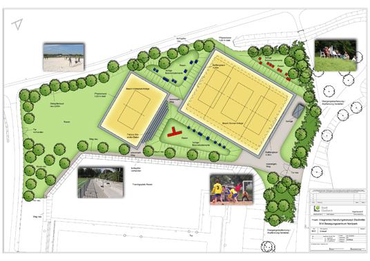 Das Bild zeigt die geplante Beach-Anlage