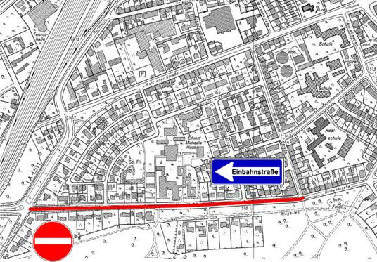 Das Bild zeigt eine Karte der Gildenstraße