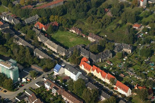 Das Bild zeigt die Schlägel & Eisen Siedlung