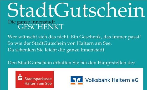 Auszug aus dem Stadtgutschein -Foto Werbegemenschaft