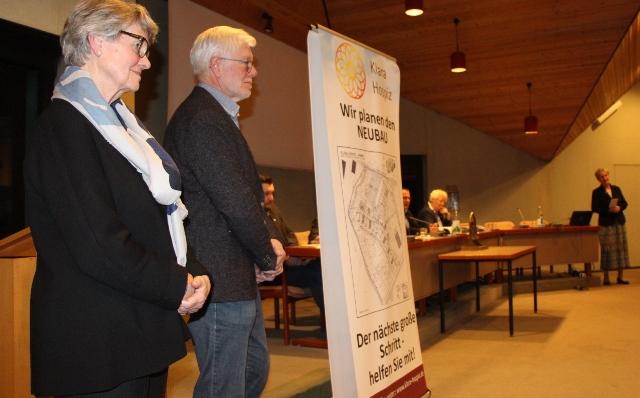 Die Vertreter des Fördervereins stellten das geplante Klara-Hospiz vor.