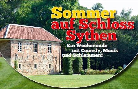 Sommer auf Schloss Sythen - Ausschnitt Plakat